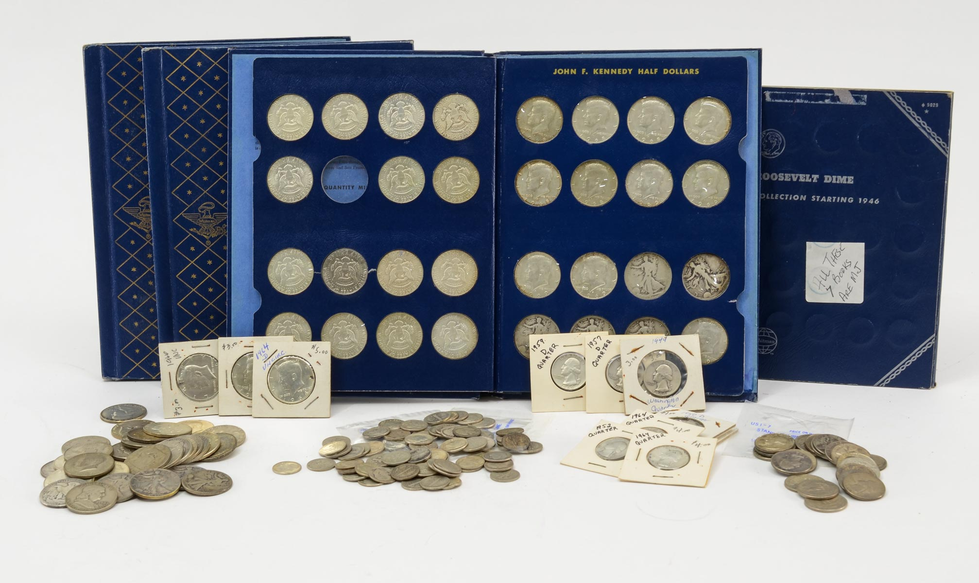 Coin Collection of Silver Half Dollars