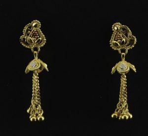 22k Gold Burmese Earrings