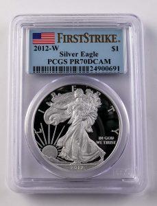PCGS Graded Silver Eagle Coin
