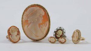 Antique Cameo Estate Jewelry